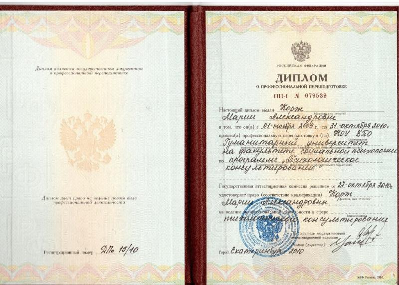 Психолог Корж Мария Александровна Корж Мария Александровна